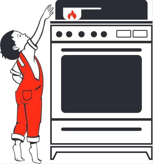 Stellen Sie Elektrogeräte In Der Küche Außer Reichweite Von Kindern