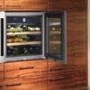 Weinkühlschrank in der Küche