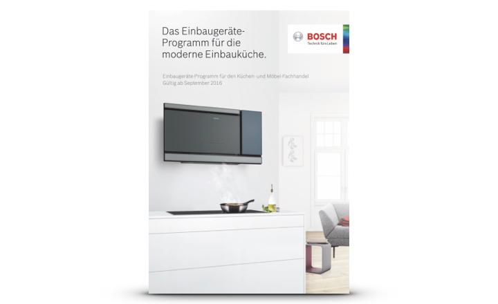 Bosch prospekt Einbaugeräte Einbauküchen