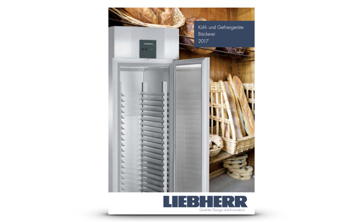 Liebherr Prospekt Kühl- und Gefriergeräte Bäckerei