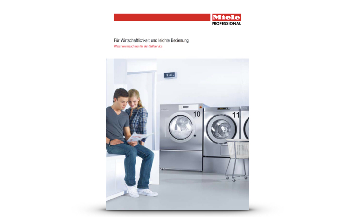 Miele Prospekt Waschmaschinen für Selfservice