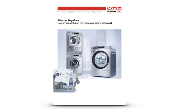 Miele Prospekt Gewerbemaschinen Wäschepflege