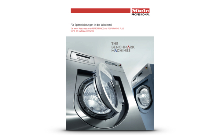 Miele Prospekt Waschmaschinen für Wäschereien