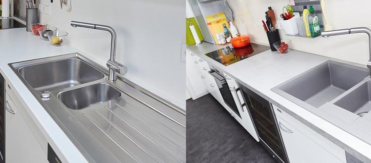 Austausch eines klassischen Spülbeckens mit einem Silgranitspülbecken bei einem Küchenumbau | Elha Service