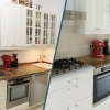 Vorher nachher Bild von Küche aufwerten