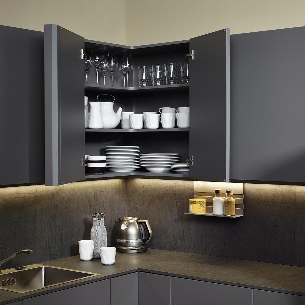 Sachsenküchen Korpus in gleicher Farbe innen und außen