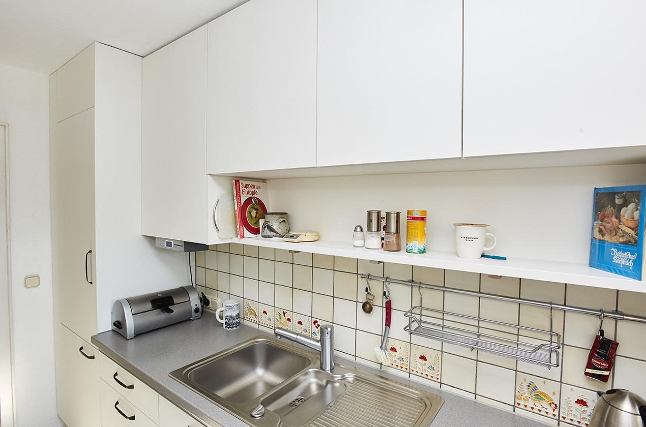 neue Küchenfronten bei Umgestaltung der kleinen Küche