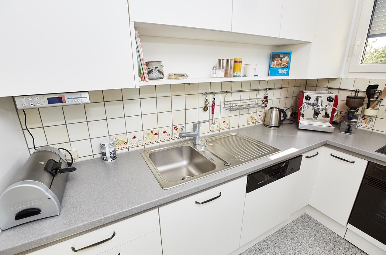 kleine Küche nach Umgestaltung