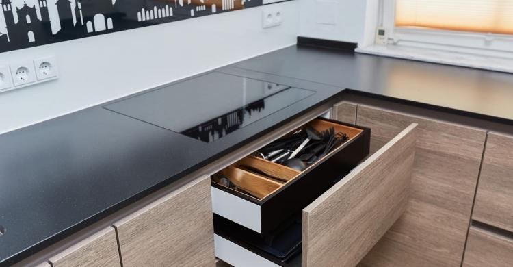 Moderne Kuche Mit Holz Elha Service