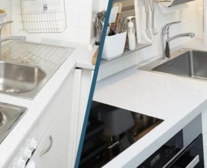 Küchenrenovierung-Silestone-Arbeitsplatte-Elha-Service