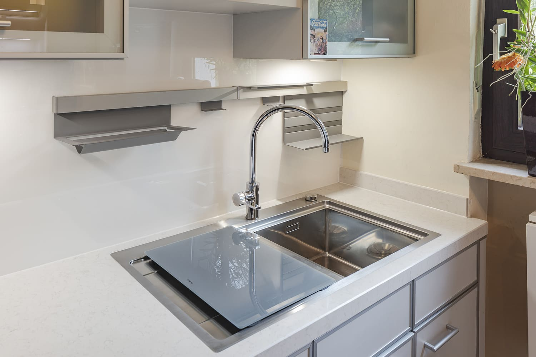 Küche Quarzstein Arbeitsplatte