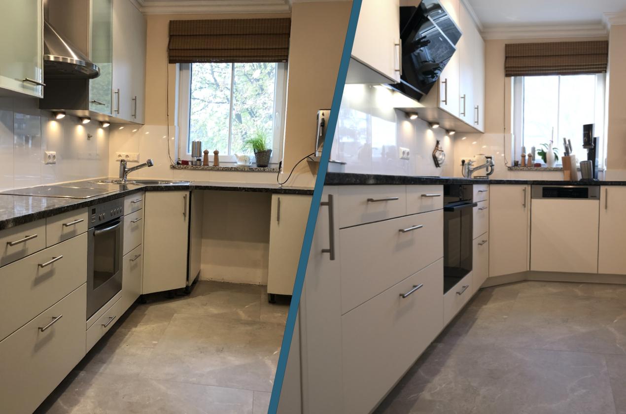 Küchenrenovierungen - Vorher Nachher - Elsa P