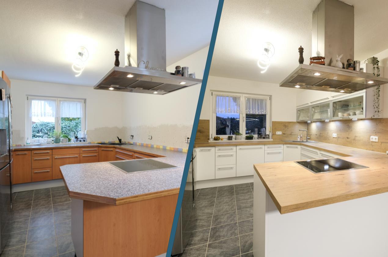 Küchenrenovierungen - Vorher Nachher