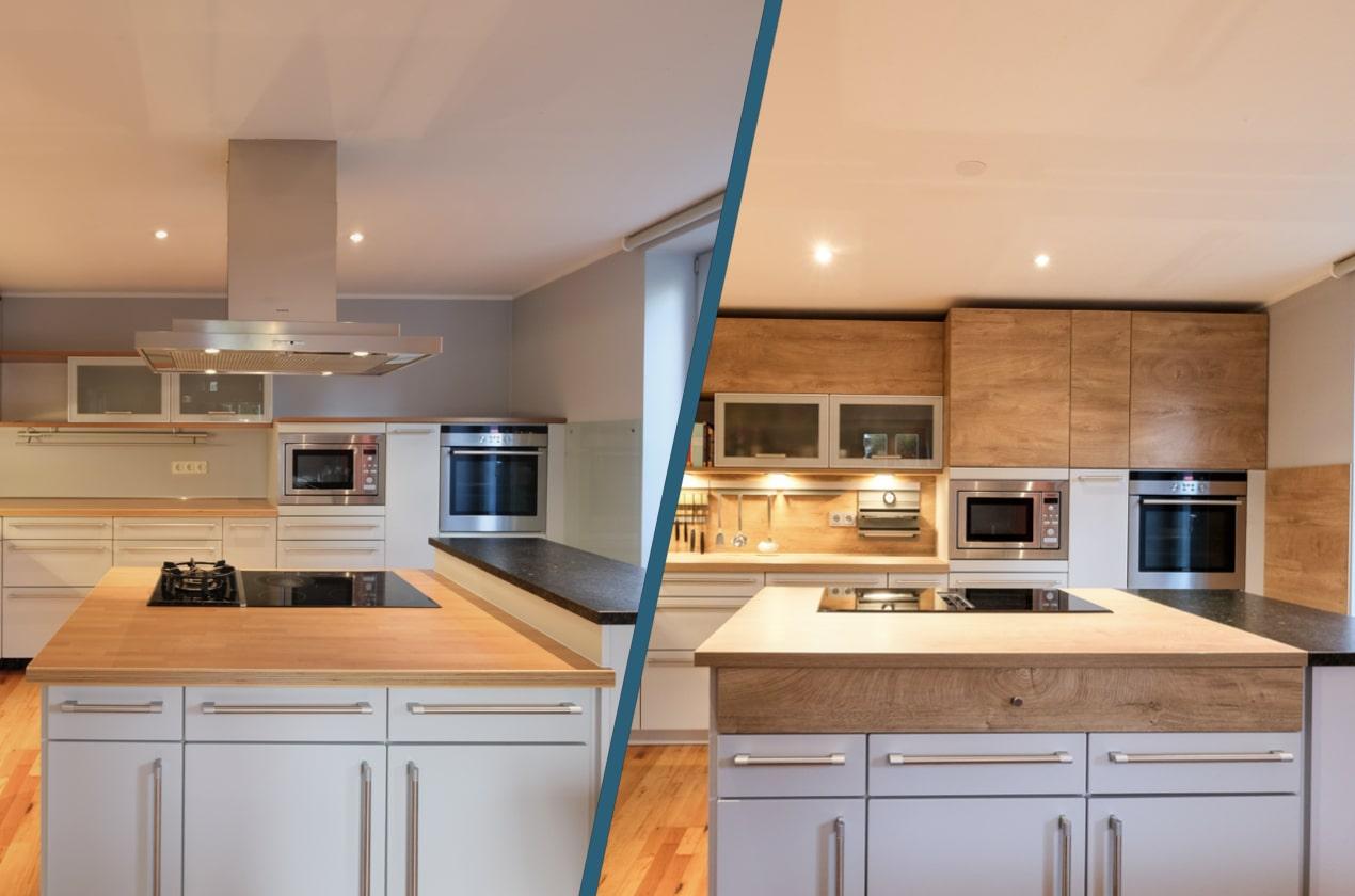 Küchenrenovierungen - Vorher Nachher.001