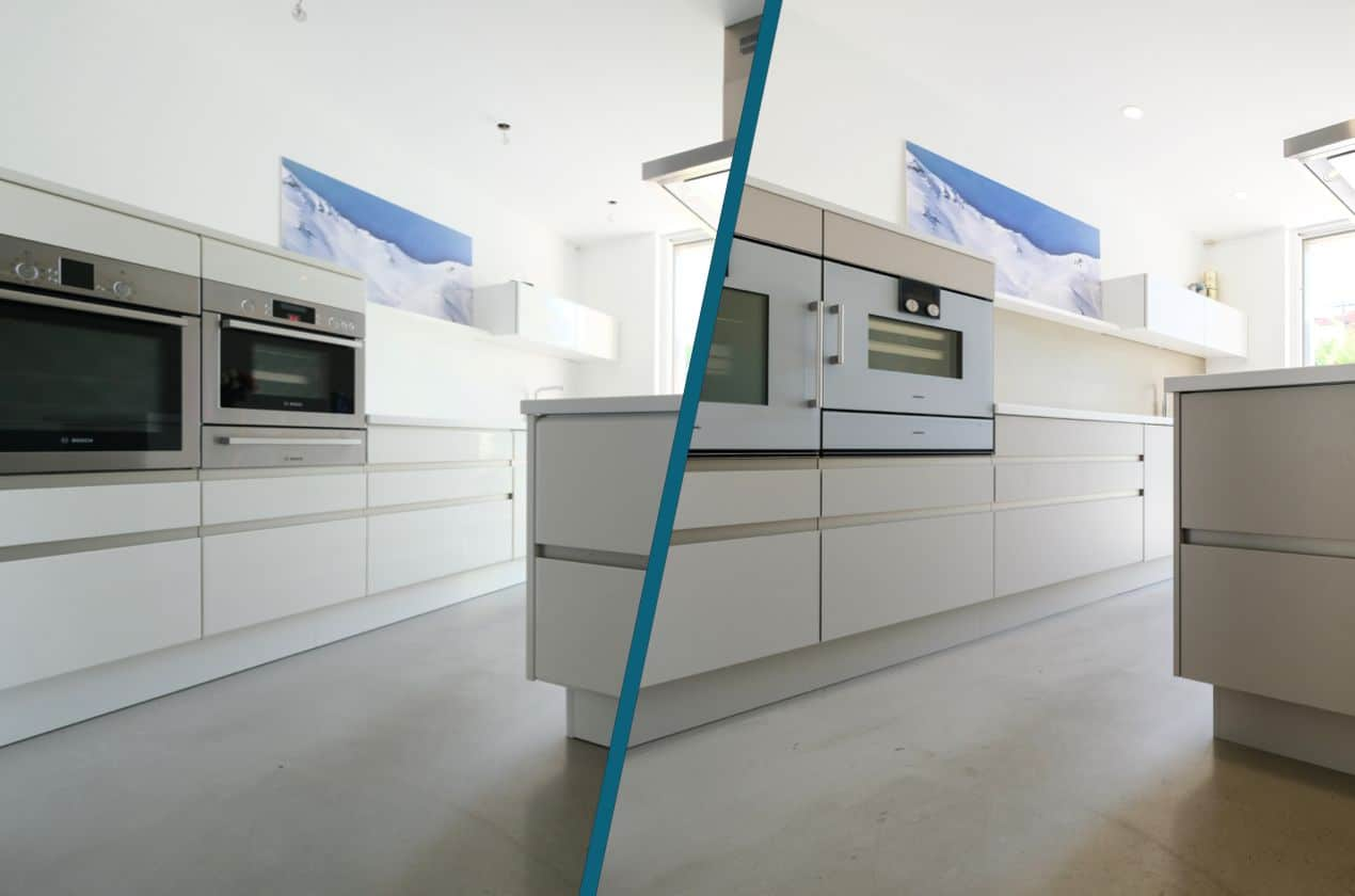 Küchenrenovierung Nina P Vorher/Nachher